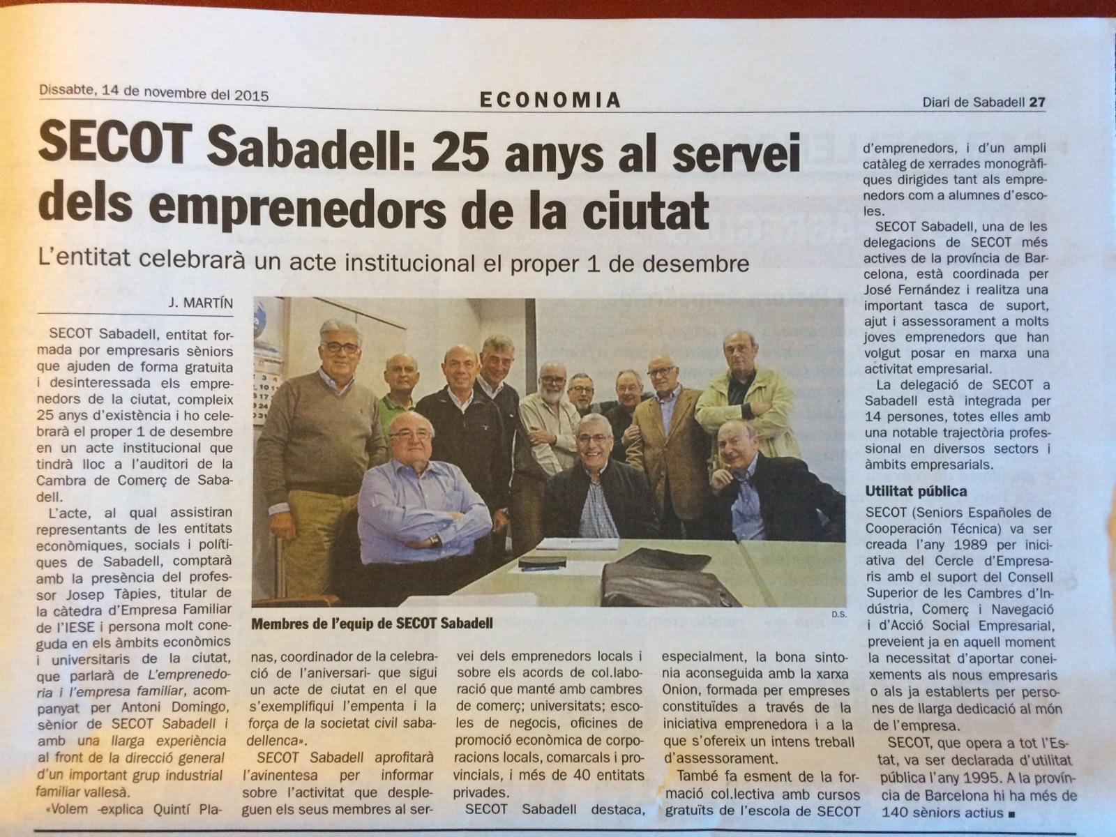 Diari de Sabadell- Economia- 15-11-14