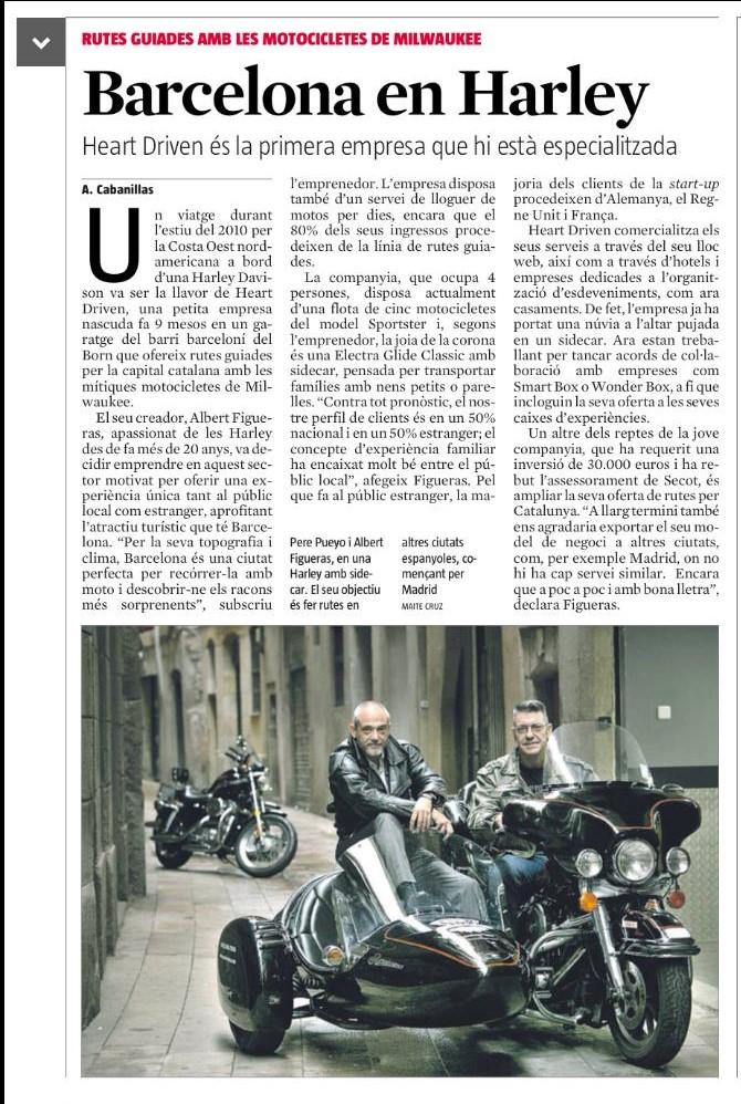 Heart Driven, una empresa nascuda a Barcelona, que ofereix rutes guiades per la capital catalana amb motocicletes Milwaukee, ha rebut orientació de Secotbcn